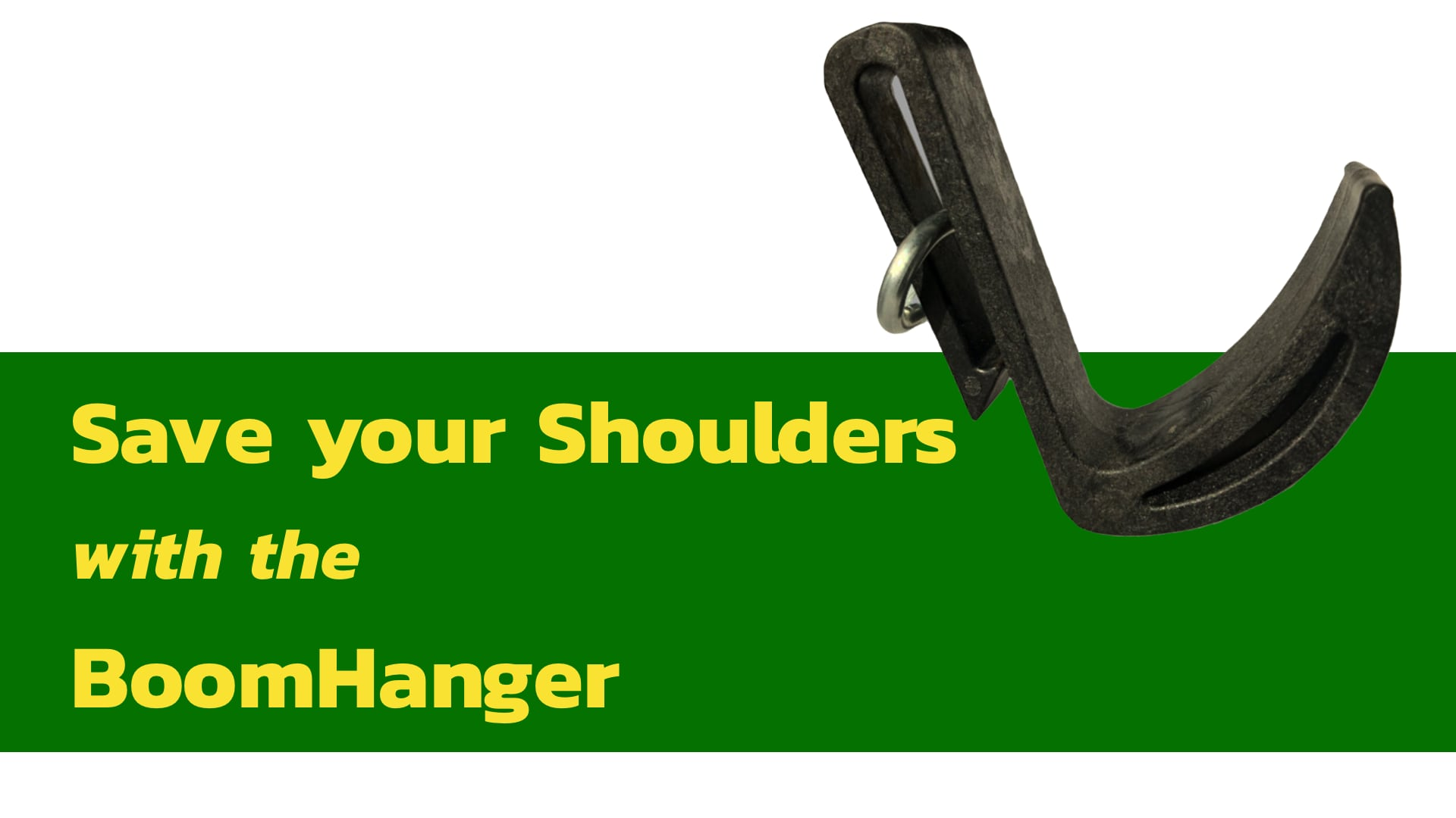 The Boomhanger is a great mobile resting option for your shoulders when booming and mixing at the same time!