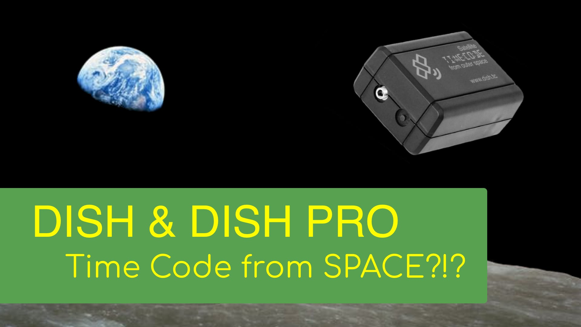 Dish and Dish Pro Time Code Boxes sync don't need sync. They get it from space.