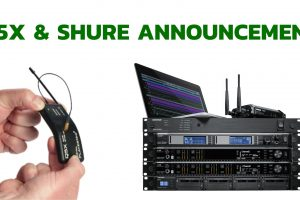 Shure and Q5X have joined forces for a new lineup of Q5X transmitters that are compatible with Axient Technology!