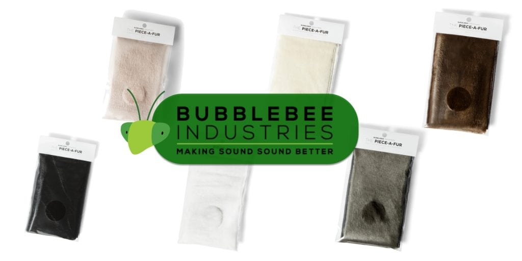 The Bubblebee Industries Piece-a-Fur comes in a variety of colors!