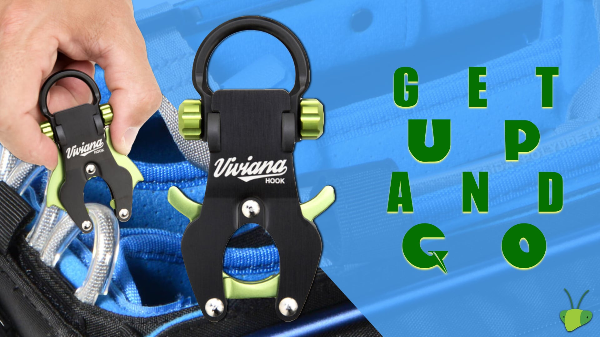 The Viviana Hook is the fastest way to get a Harness on an off an ENG Bag