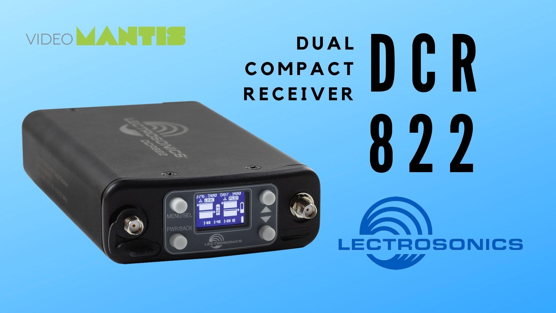 Lectrosonics DCR822 Dual Compact Receiver